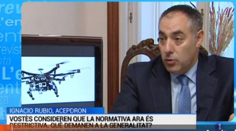 L'Entrevista de l'Informatiu Cap de Setmana: Ignacio Rubio, president de l'Associació Catalana de Propietaris de Drons - 21/11/2015