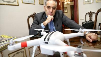 Barcelona. Foto a Ignasi Ripoll, president de l'associació catalana de fabricants i empreses de drons.