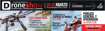 the drone show Feria en Barcelona